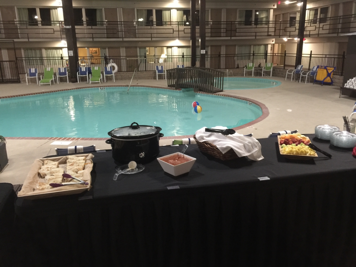 banquet by the pool