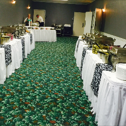 buffet with food