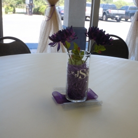 center piece in Sandbar Room