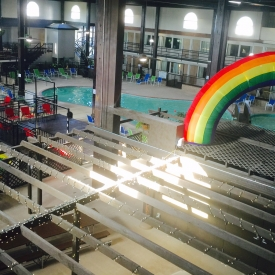 rainbow in atrium